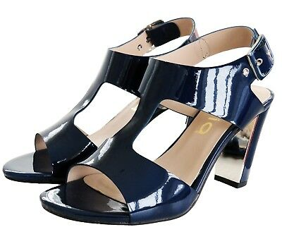 Professioneller Verkauf Rrp - £65 Womens Strappy Sandals Block Mid High Heel Ladies Open Toe Party Shoes