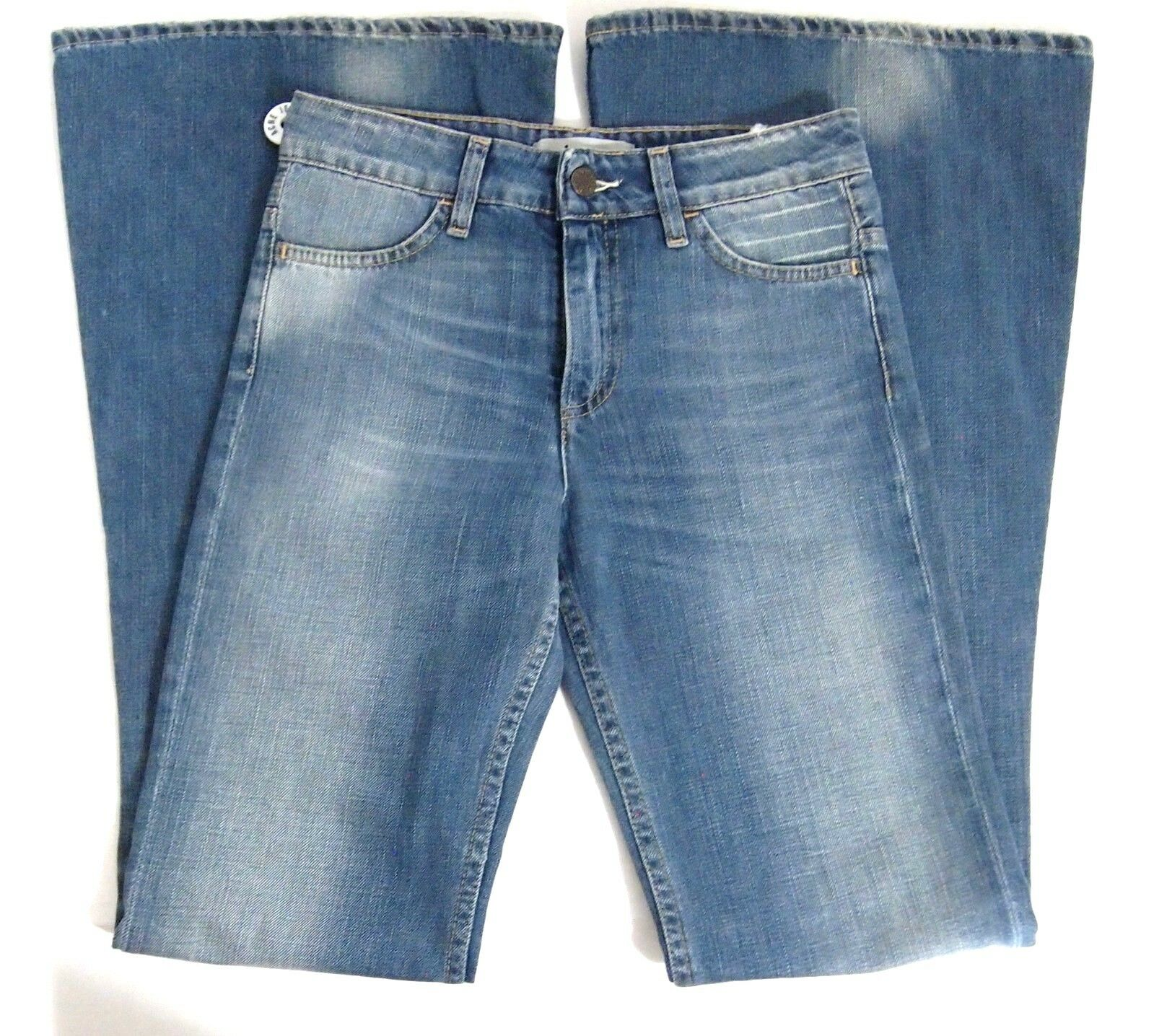 NWOT Acne Studios Womens Jeans 26 Flare Bell Store Mello Medium Wash High Rise