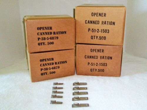 P-38 /& 5 P-51 US Shelby Co 5 Can Openers Emergency Camping Hunting US Army