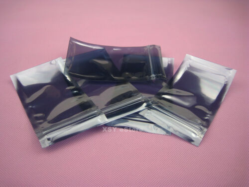 """100 ESD Anti-Static Shielding ZIP LOCK Bags 2/"""" x 2.8/""""/_50 x 70mm/_USABLE SIZE"""