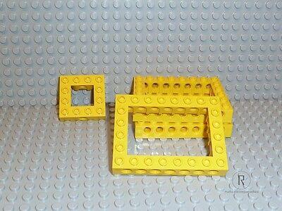 NEU brick open center LEGO Technik 32532 1x Lochstein 6x8 hellgrau