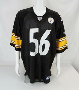 Pittsburgh Steelers Jersey Reebok Lamar Woodley #56 Men's NFL Football Black 2XL