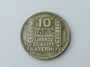 Vintage ! One pc. Francs /  France  1930-10 francs silver coin  (#143-J)