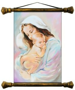 Religion-Mary-Handmade-Oil-Painting-Picture-Oil-Frame-Pictures-G01538