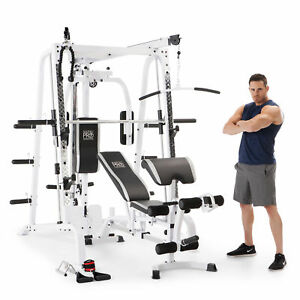 marcy pro smith cage workout machine total body training