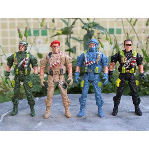 10pcs Kunststoff 9cm Action Figur Armee Soldaten Aktion Figur Satz Spielzeug