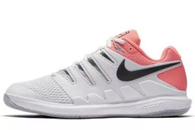 Nike Air Zoom Vapor Vapor Vapor X 10 HC Tennis shoes Sz 6 Womens Pink Peach Grey AA8027-001 a40a07