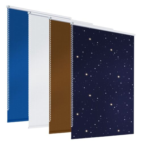 Tendine oscure a rullo modelli bianco//marrone//azzuro//azzuro stelle scelta tua