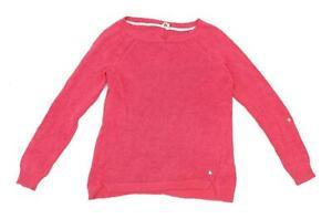 White-Stuff-Womens-Size-12-Linen-Blend-Pink-Jumper-Regular