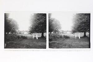 Francia-Coppia-Foto-Amateur-Stereo-T2L3n-Placca-Da-Lente-Vintage