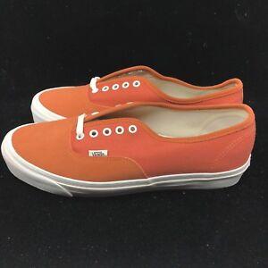 6acae859a95d Vans Vault OG Authentic LX Suede Canvas Autumn Glaze Orange White ...