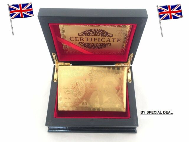 Pound Gold Playing Cards 24k Carat Gold Plated Game Poker Gift Box Deck
