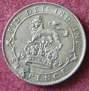 1922 George V Argent Sixpence, De Haute Qualité.-afficher Le Titre D'origine A0bvg0th-07235941-923837480