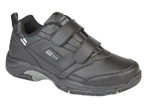 Herren Dek T376 Ohio Leder Touch Klettverschluss Sneaker