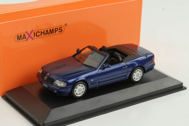 Mercedes-Benz Sl R129 Blue Metallic 1:43 Minichamps Maxichamps