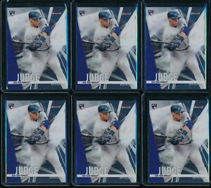 2017-Topps-Finest-Aaron-Judge-RC-2-Rookie-6-Card-Lot-New-York-Yankees-NYY