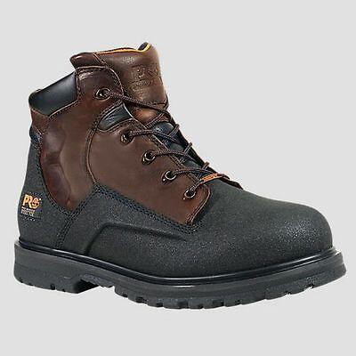 "Mens Timberland PRO PowerWelt 6"" Waterproof Steel Toe Boots Size 7-15 47001242"