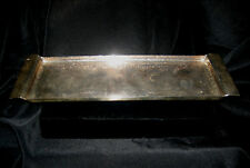 """Paola Navone X for Egizia Silverplated 13-1/2"""" x 4-3/8 x 5/8"""" Hammered Tray"""