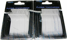 40 INTERDENTAL FLOSS TOOTHPICKS - INBETWEEN TEETH CLEANING FLOSSING TOOTH PICKS