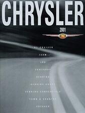 2001 Chrysler 44-page Car Brochure Catalog - 300M PT Cruiser LHS Sebring Voyager