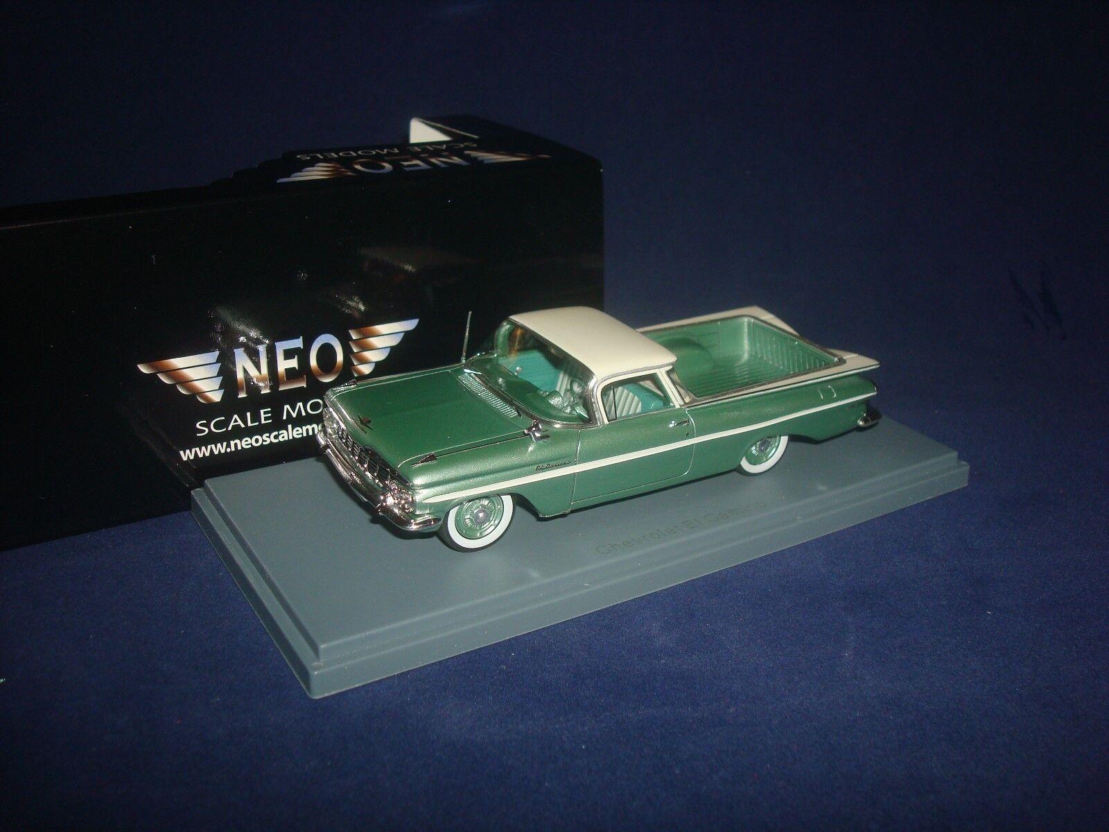 Chevrolet ei camino 1959 metallic - grün neo - 44851 1   43
