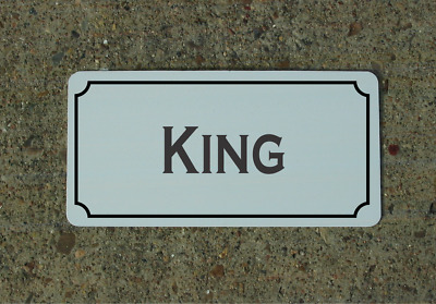 Embossed-Wrench King-schrauberking Fun Sign Aluminium Metal Sign Printed