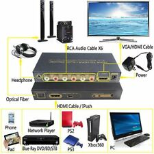 HDMI to HDMI & Optical + 6RCA + 3.5mm Audio Extractor Splitter 5.1 Audio Decoder