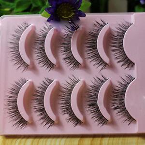 Hot-5-Pairs-Makeup-Handmade-Long-Thick-Cross-Beauty-False-Eyelashes-Eye-Lashes