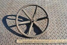 Rare Original Vintage Gas Prairie Tractor Steam Engine Cast Iron Steering Wheel