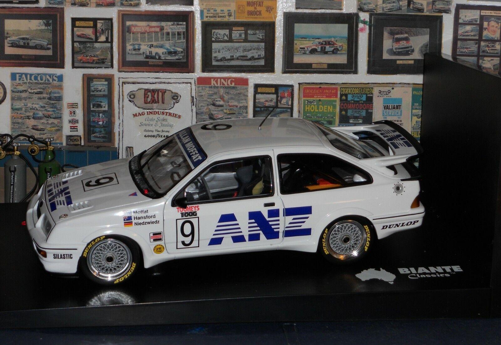 1 18 BIANTE FORD SIERRA RS500  ANZ  9 1988 BATHURST MOFFAT HANSFORD NIEDZWIEDZ
