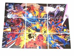 1994-X-MEN-FLEER-ULTRA-MARVEL-TEAM-PORTRAIT-PUZZLE-9-CARD-INSERT-CHASE-SET