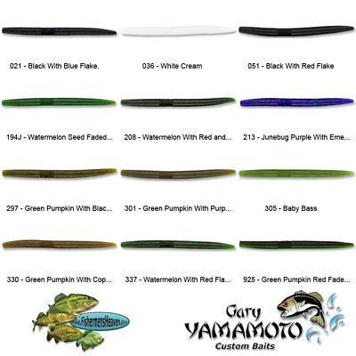 Gary Yamamoto Senko 7/'/' Smoke Black and Hologram Flake 9X-05-238 PACK OF 5