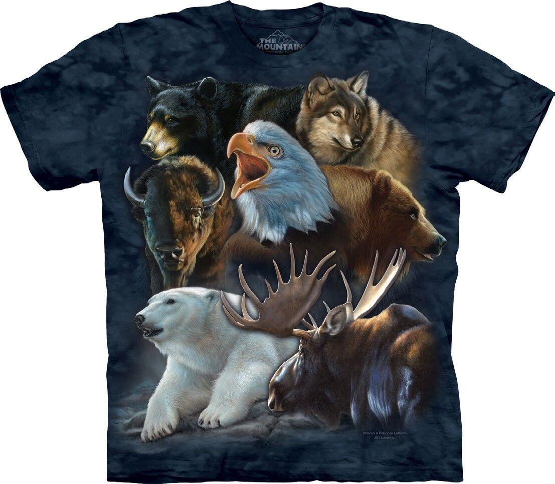 The Mountain Unisex Adult Wild Alaskan Collage Animal TShirt