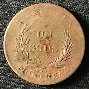 Canada 1835 Half Penny Token Un Sous LC-2A3 / Breton 713 / J-035