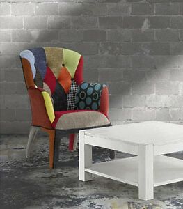 Poltrona moderna 653 in tessuto colorata sedia poltroncina design pop art patch ebay - Poltrona moderna design ...