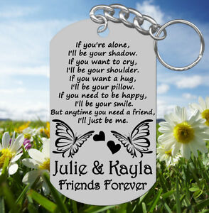Image is loading Sweet-BEST-FRIENDS-Keychain-Gift-Personalized-FREE-with- aa09fd8cb