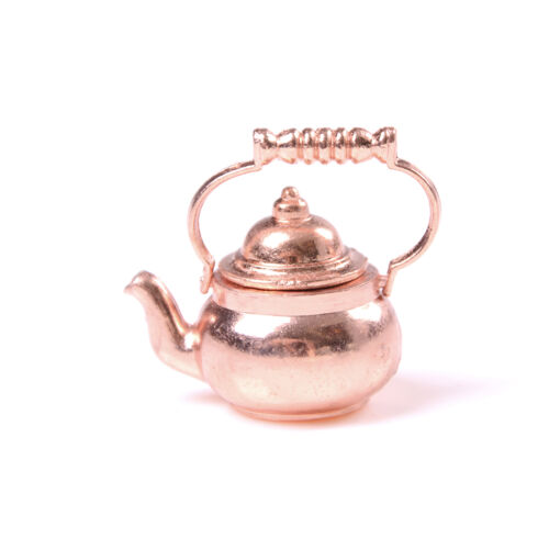 1//12 Dollhouse Miniatures Coppers Tea Kettle//Tea Pot Classic Toys For Kid do TJH