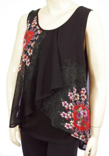 DESIGUAL BLUS LUCILE femme Tunique débardeur 2000 Noir Black taille XL