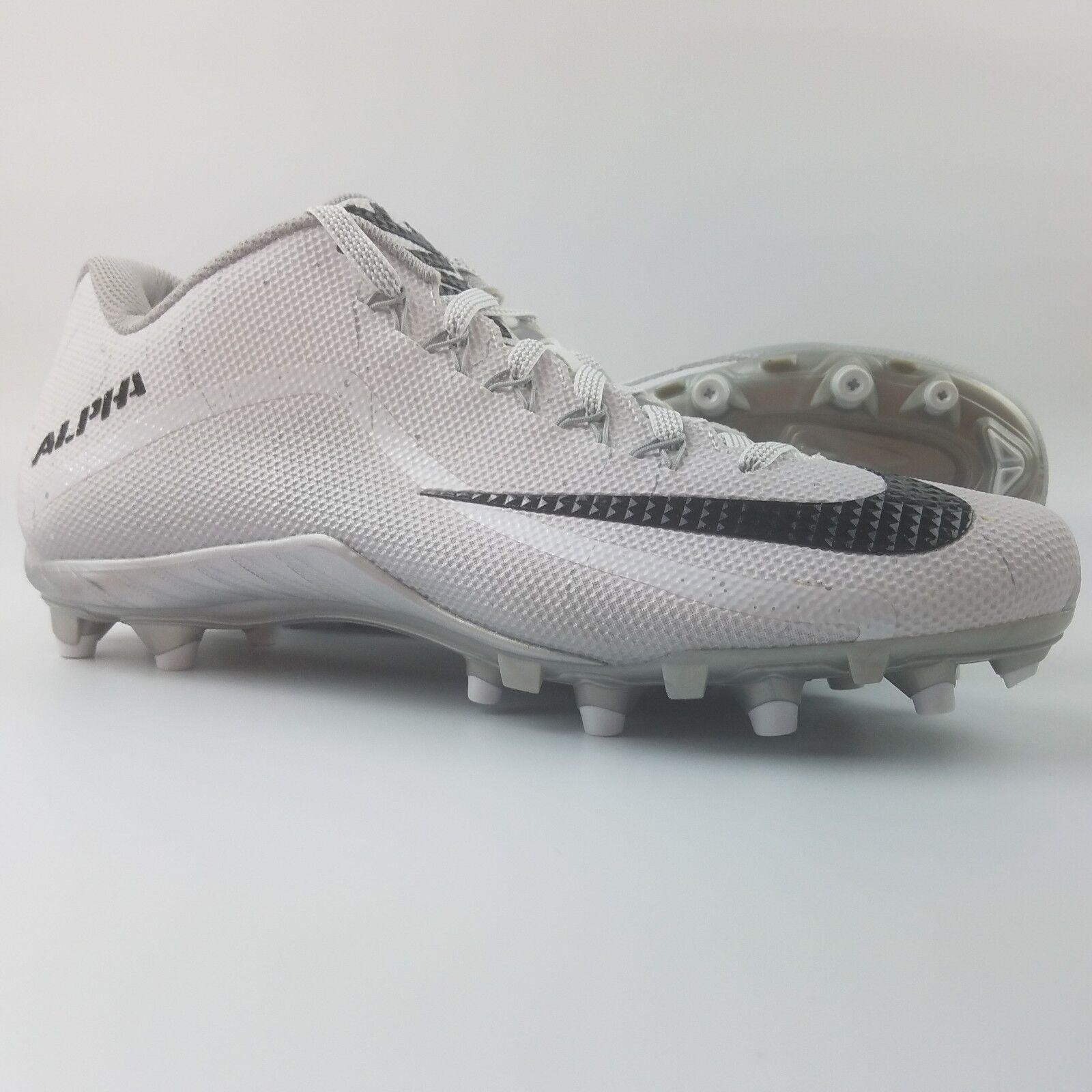 83cfa9ca4277 Nike Alpha Pro 2 TD Low Football Cleats Mens 719930-101 White Black ...