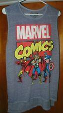 NEW MARVEL The Avengers SOFT Women's Tank Top Sleeveless Shirt LARGE 11/13 -D31