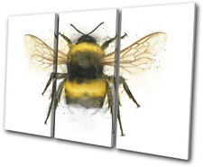 Bee Nature Paint Abstract Animals SINGLE CANVAS WALL ART Picture Print