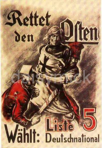 Teutonic Knights German National People/'s Party 1920 Poster 7x5 Inch Reprint
