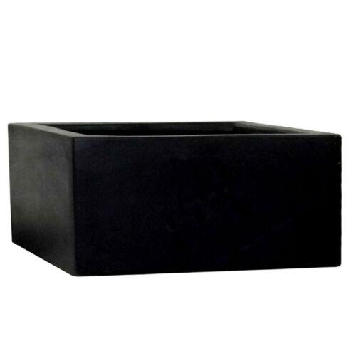40 cm noir Polystone Basse Cube JARDIN JARDINIERE//plante Pot//baignoire//cube//Carré//BOX