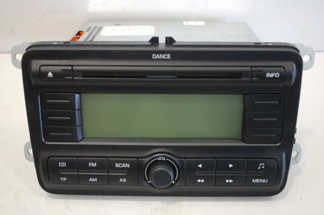 SKODA FABIA II 2 ROOMSTER BJ 2009 AUTORADIO CD-RADIO DANCE OHNE CODE 5J0035161A