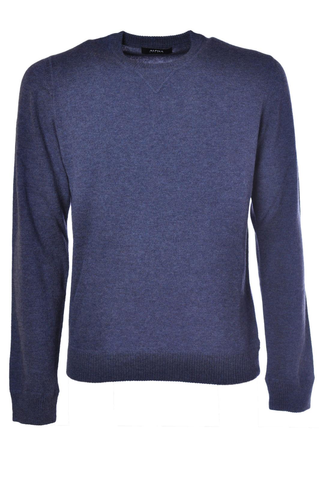Alpha - Knitwear-Sweaters - Man - Blau - 441515C183525