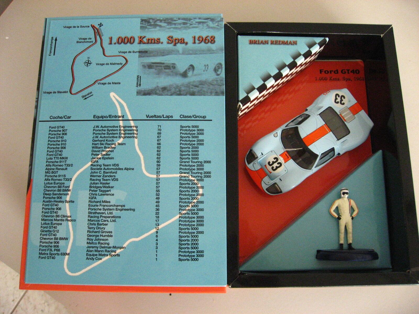 Fly slot car FORD Gulf GT 40 Brian rougeMAN Edition SPA 1968