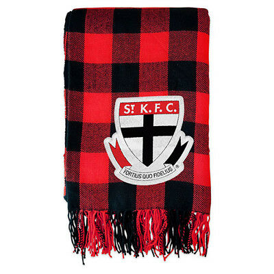 Afl Tartan Fabric Large Throw Rug