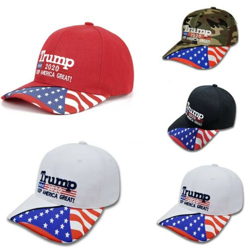 2020 Hat Trump Keep America Great 3D Embroidery Cap Hat S-O Red-Camo-Black