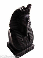 "Egypt Rare King Tut Head Face Pharaoh Figurine Statue Ancient 4"" Sculpture  201"