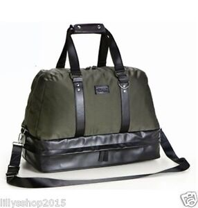 5ab13f86628 Image is loading VERSACE-PARFUMS-MILITARY-OLIVE-GREEN-WEEKEND-HOLDALL-SPORT-
